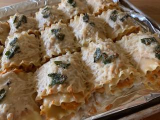 Pumpkin Brown Butter Pasta Rolls