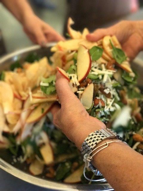 Making Salad with Onion Creek Kitchens